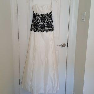 Jessica McClintock formal dress black lace 6 NWT